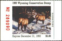 Wyoming Duck Stamp 1993 Elk