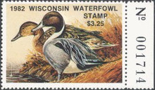 Wisconsin Duck Stamp 1982 Pintails