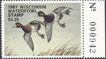 Wisconsin Duck Stamp 1981 Lesser scaup