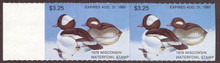Wisconsin Duck Stamp 1979 Buffleheads Pair with left selvage