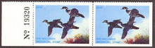 Wisconsin Duck Stamp 1978 Wood Ducks Pair with plate #