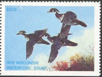 Wisconsin Duck Stamp 1978 Wood Ducks