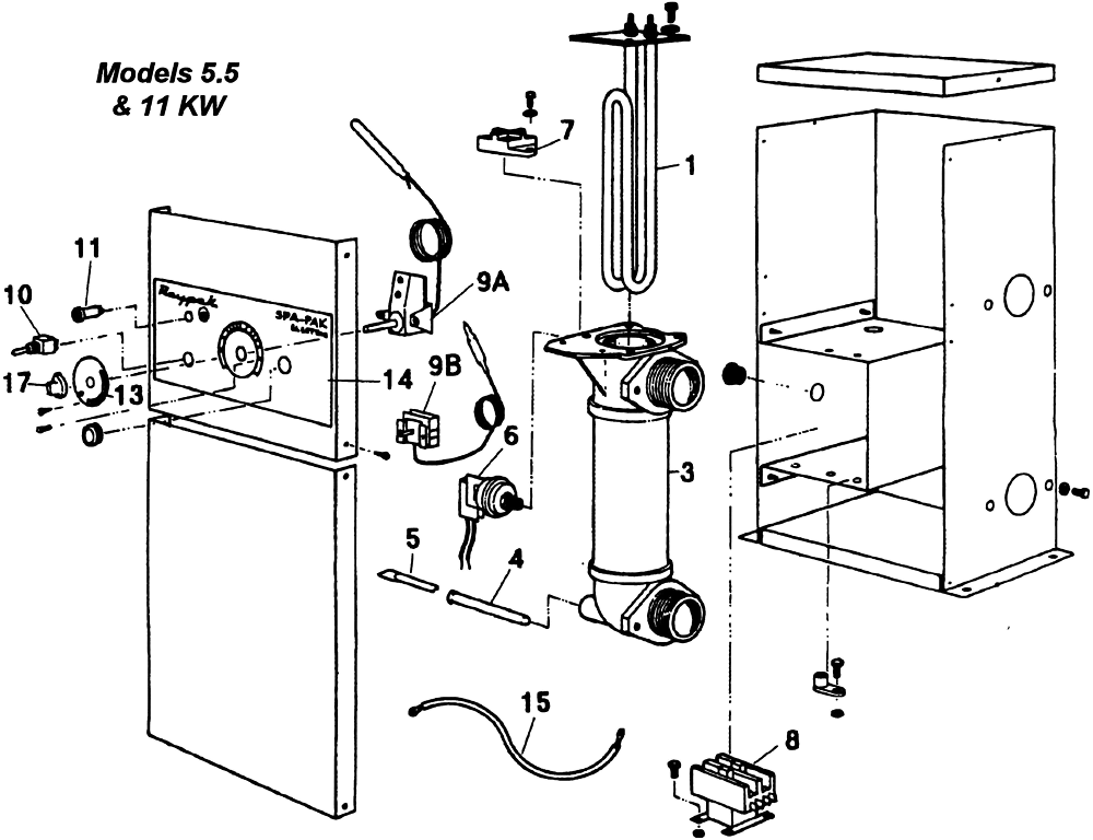 raypak heater electric 11 kw 240v 1 phase