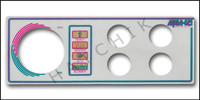 M2065 LEN GORDON 4-BUTTON AQUA-SET FACEPLATE