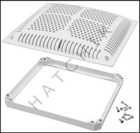 N1535 HAYWARD WGX1032BHF2 12 X 12 GRATE (VGB) WITH INNER FRAME (WHITE)