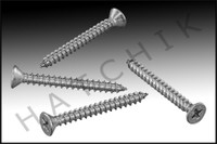 "N1691 AQUASTAR SCREW SET WAVE/STAR GRATE 10x1-3/4"" FLAT HEAD 316SS (QTY 4)"
