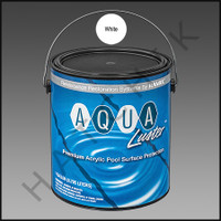 P6030 RAMUC AQUALUSTER PAINT-1 GAL WHITE COLOR: BRILLIANT WHITE #3011