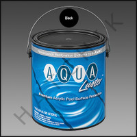P6032 RAMUC AQUALUSTER PAINT-1 GAL BLACK COLOR: BLACK #321