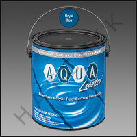 P6034 RAMUC AQUALUSTER PNT-1 GAL ROY BLU COLOR: ROYAL BLUE #329