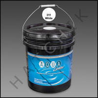 P6529 RAMUC AQUALUSTER PAINT-5 GAL WHITE COLOR: BRILIANT WHITE #3011