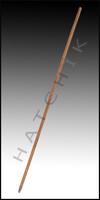 "R1060 HANDLE-THREADED WOOD 60"" W/ METAL TIP SUBST F5081/R1055"
