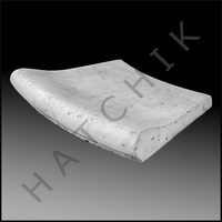 T1116G COPING STONE - AQ 3' REVERSE RADIUS - SMOOTH SURFACE