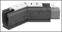 T1529 STEGMEIER DECK DRAIN 45 WHITE ANGLE #SDD45W  WHITE