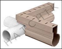 T1728 QUAKER DECK DRAIN CROSS TAN COLOR: TAN