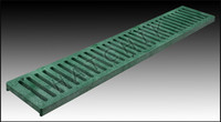 T1907 NDS CHANNEL GRATE 2' GREEN COLOR: GREEN