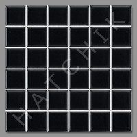 "T4004 TILE - SQ-1022G GLOSSY MATT BLACK 2""X2"" (25 SHEETS/CS)"