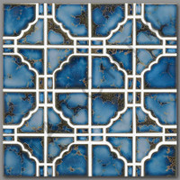 T4020 TILE - SUNBURST SERIES STB 807 TERRA BLUE