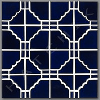 T4025 TILE - SUNBURST SERIES STB 808 COBAT BLUE