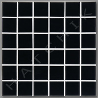 "T4040 TILE - HM-209   2"" X 2"" BLACK 20 SHEETS PER BOX/ 20 SQ FT IN CASE"