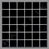 "T4041 SQ-2 BLACK 2X2 OBSELETE TILE  - SQ-2  BLACK 2""x 2"