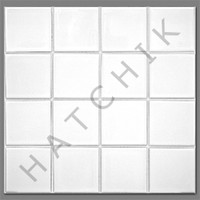T4075 TILE HM-308 HARMONY 300 SERIES 3X3 WHITE (20 SHEETS/CASE)