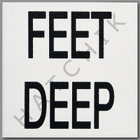 T4126 NON SKID DEPTH MARKER 'FEET DEEP' WHITE WITH BLACK NON SKID