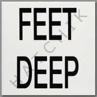T4128 CERAMIC DEPTH MARKER 'FEET DEEP' SMOOTH