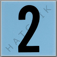 T4132 CERAMIC DEPTH MARKER BLUE #2 NUMBER 2 - BLUE