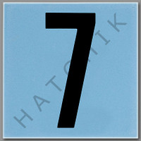 T4137 CERAMIC DEPTH MARKER BLUE #7 NUMBER 7 - BLUE