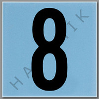 T4138 CERAMIC DEPTH MARKER BLUE #8 NUMBER 8 - BLUE