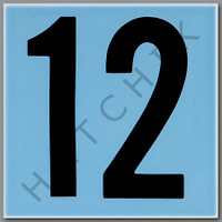 T4142 CERAMIC DEPTH MARKER BLUE #12 NUMBER 12 - BLUE