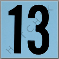 T4143 CERAMIC DEPTH MARKER BLUE #13 NUMBER 13 - BLUE