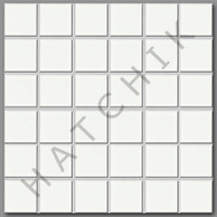 "T4244 TILE - HARMONY SERIES  HM-208 COLOR: WHITE 2"" X 2"""
