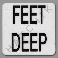 "T4459 DECK MARKER - VINYL NON-SKID FT DE FEET DEEP""   6"" X 6"