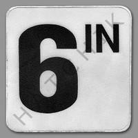 """T4476 DECK MARKER - VINYL NON-SKID 6 IN"""" 6 IN""""        6"""" X 6"""