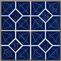 T4660 TILE - DA-190 DIAMOND SERIES BLUEBERRY