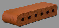 "T7009 BRICK COPING SBN   ROSE TAN 3-1/2"" X 2-3/16"" X 11-1/2"