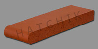 "T7014 BRICK COPING-RETROFIT-SUNSET RED 3-5/8"" X 1-1/4"" X 12-1/2"