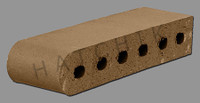 "T7015 BRICK COPING SBN   PUEBLO 3-1/2"" X 2-3/16"" X 11-1/2"
