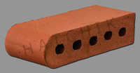 "T7029 BRICK COPING-SBN-PACIFIC ROSE 3-1/2"" X 2-3/16"" X 9""   KORD"