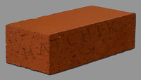 "T7067 BRICK PAVER-DIESKIN-SUNSET RED 3-1/2"" X 2-3/16"" X 7-1/2"