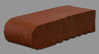 T7117 BRICK COPING-SBN-HAVANA RED 3-5/8 X 9 X 2-1/4    #250