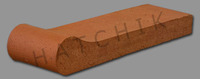 T7137 BRICK COPING-SAFT GRIP HAV-RED 3-5/8 X 12-1/2 X 1-1/4  #250