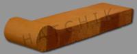 T7138 BRICK COPING-SAFET-GRP-AUT LEV 3-5/8 X 12-1/2 X 1-1/4  #350