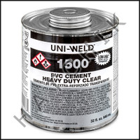 V1008 PVC CEMENT HD QUART CLEAR COLOR: CLEAR
