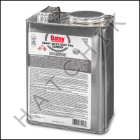 V1011 PVC CEMENT GALLON GREY H D COLOR:GRAY