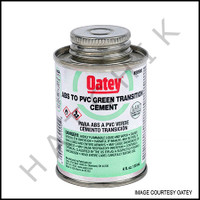 V1013 PVC CEMENT GREEN  ABS/PVC 1/4 PINT TRANSISTIONAL GLUE  ABS TO PVC