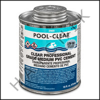 V1026 PVC CEMENT POOL TITE PINT CLEAR PINT CAN