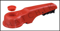 "V1433 ASAHI 3""or 4"" PLAS REPL.HANDLE FOR PVC WAFER VALVE OLD STYLE(RED)"