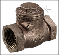 V1714 BRONZE CHECK VALVE - 1 THREADED THREADED
